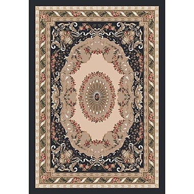Milliken Pastiche Kashmiran Marquette Ebony Area Rug; Rectangle 2'8'' x 3'10''