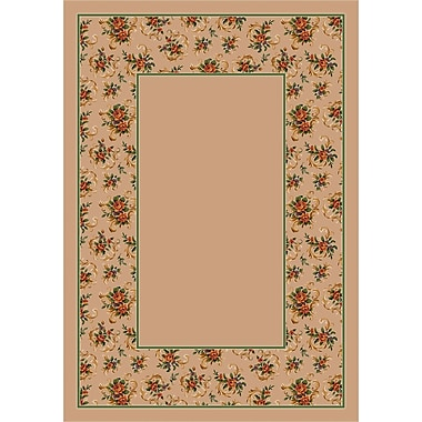 Milliken Design Center Pearl Cameo Rose Area Rug; Round 7'7''