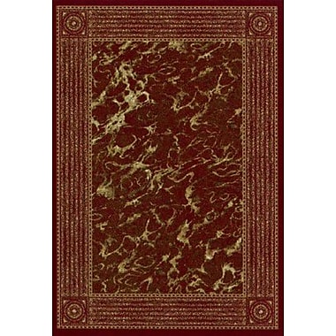 Milliken Innovation Garnet Carrara Area Rug; Oval 3'10'' x 5'4''