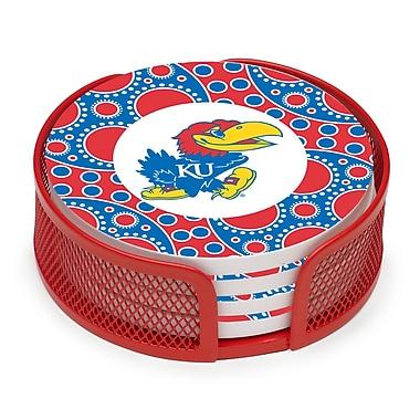 Thirstystone 5 Piece University of Kansas Circles Collegiate Coaster Gift Set