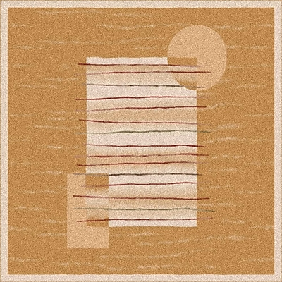 Milliken Pastiche Horizon Sand Rug; Oval 5'4'' x 7'8''