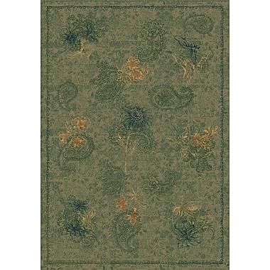 Milliken Pastiche Vintage Cilantro Green Area Rug; Oval 3'10'' x 5'4''