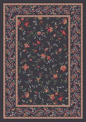 Milliken Pastiche Hampshire Floral Ebony Rug; Rectangle 2'8'' x 3'10''