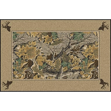Milliken Realtree Advantage Solid Border Area Rug; 2'8'' x 3'10''