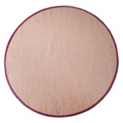 Acura Rugs Sisal Natural/Red Rug; Round 6'