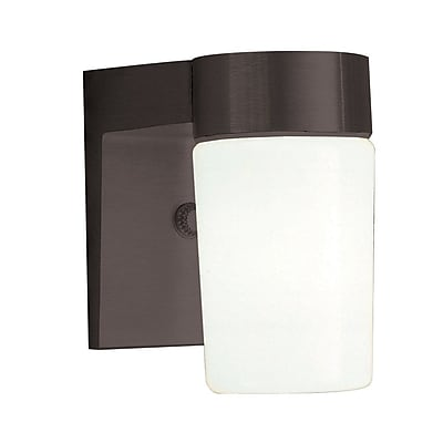 Sunset Lighting 1-Light Outdoor Sconce; Black
