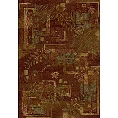 Milliken Innovation Autumn Twill Dark Chocolate Area Rug; Rectangle 7'8'' x 10'9''