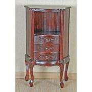 International Caravan Carved Wood Furniture Telephone Table