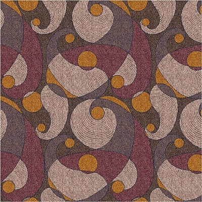 Milliken Pastiche Remous Brown Area Rug; Rectangle 5'4'' x 7'8''