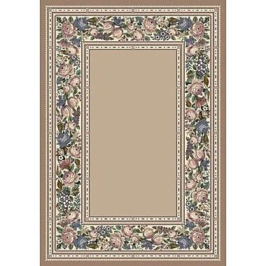 Milliken Innovation Pearl Mist English Floral Area Rug; Rectangle 5'4'' x 7'8''