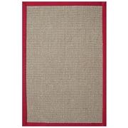 Acura Rugs Sisal Natural/Red Rug; 9' x 12'