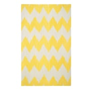 Genevieve Gorder Rugs Insignia Leo Sun Yellow/Cream Area Rug; Rectangle 5' x 8'