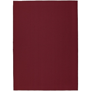 Garland Rug Chili Red Herald Square Area Rug; 5' x 7'
