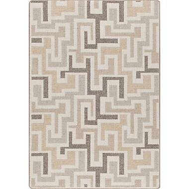 Milliken Mix and Mingle Neutral Junctions Rug; Rectangle 2'8'' x 3'10''