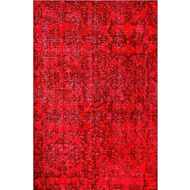 MOTI Rugs Medallion Red Rug; Rectangle 2' x 3'