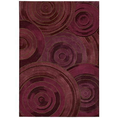 Kathy Ireland Home Gallery Palisades Ovation Hand-Tufted Plum Area Rug; 5' x 7'6''