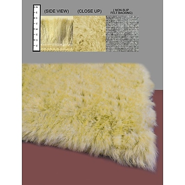 IXI Eros Faux Flokati Yellow Area Rug; Square 4'