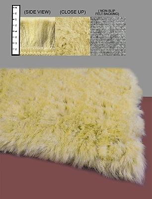 IXI Eros Faux Flokati Yellow Area Rug; 5' x 7'