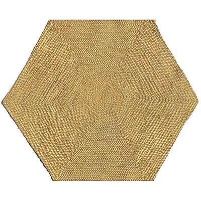 Acura Rugs Jute Natural Area Rug; Hexagon 6'