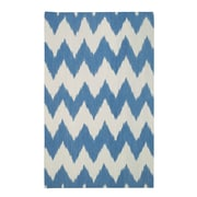 Genevieve Gorder Rugs Insignia Grecian Blue/Cream Area Rug; Rectangle 5' x 8'