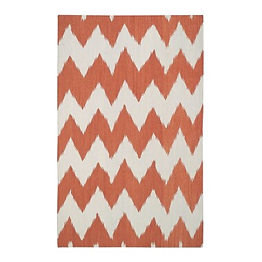 Genevieve Gorder Rugs Insignia Orange Area Rug; Rectangle 7' x 9'
