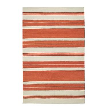 Genevieve Gorder Rugs Jagges Stripe Orange Outdoor Area Rug; Rectangle 8' x 11'