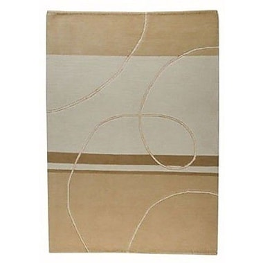 Hokku Designs Flow Beige Area Rug; 5'6'' x 7'10''