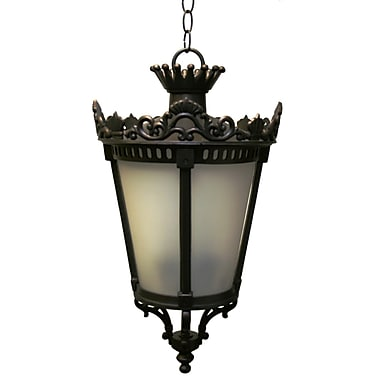 Melissa Tuscany 3-Light Outdoor Hanging Lantern; Old Copper