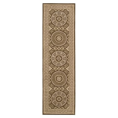 Nourison Versailles Palace Hand-Tufted Mocha Area Rug; Runner 2'3'' x 8'