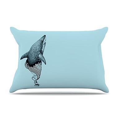 KESS InHouse Shark Record II Pillowcase; King