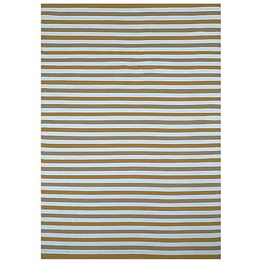 Home & More Beige Stripe Indoor/Outdoor Area Rug; 5' x 8'