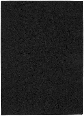 Garland Rug Blackest Black Shazaam Area Rug; 5' x 8'