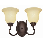 TransGlobe Lighting 2-Light Wall Sconce; Rubbed Oil Bronze