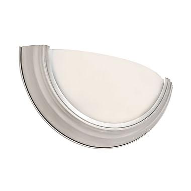 TransGlobe Lighting 1-Light Wall Sconce; Brushed Nickel
