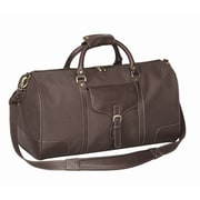 Bellino Vintage Voyager 21'' Leather Travel Duffel; Brown