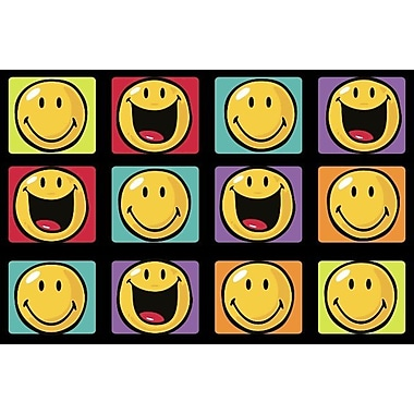 Fun Rugs Smiley World Happy and Smiling Yellow Area Rug; 3'3'' x 4'10''