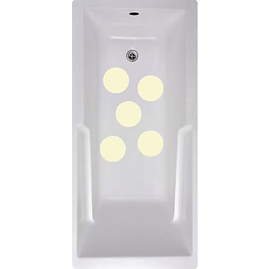 No Slip Mat by Versatraction Cirlces Bath Tub and Shower Treads (Set of 5); Cream
