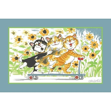 Fun Rugs Wags and Whiskers Duckport Kitties Take A Ride Area Rug; 3'3'' x 4'10''