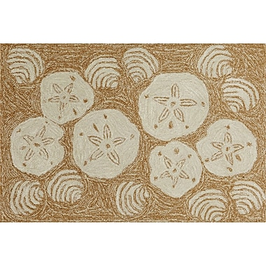 Liora Manne Frontporch Natural Shell Toss Indoor/Outdoor Area Rug; 1'8'' x 2'6''