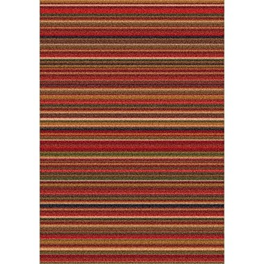 Milliken Modern Times Canyon Dark Red Area Rug; Rectangle 5'4'' x 7'8''