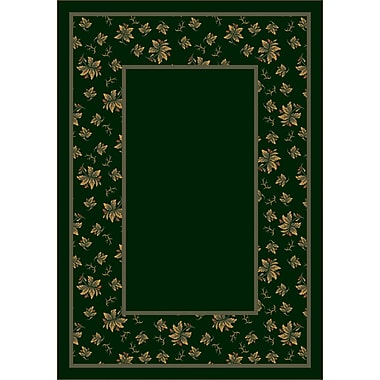 Milliken Design Center Emerald Erin Area Rug; Round 7'7''