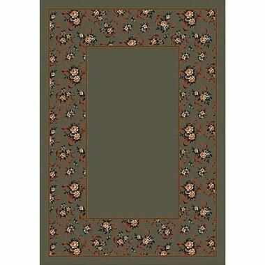 Milliken Design Center Sage Cameo Rose Area Rug; Rectangle 7'8'' x 10'9''