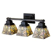 Meyda Tiffany Glasgow Bungalow 3 Light Vanity Light