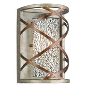 Woodbridge Braid 1-Light Wall Sconce; White Mosaic Glass