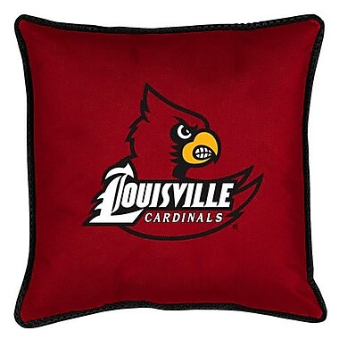 Sports Coverage NCAA Louisville Sidelines Throw Pillow