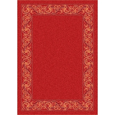 Milliken Modern Times Sonata Indian Red Area Rug; Rectangle 2'8'' x 3'10''