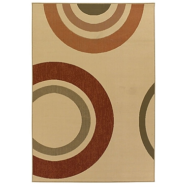 Chandra Ryan Circles Indoor/Outdoor Area Rug; 5' x 8'
