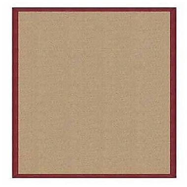 Linon Rugs Athena Hand-Tufted Sisal/Burgundy Area Rug; 4' x 6'