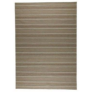 Hokku Designs Savannah Striped Beige Area Rug; Rectangle 5'6'' x 7'10''