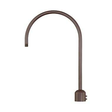 Millennium Lighting R Series Single Post Adapter; Architectural Bronze